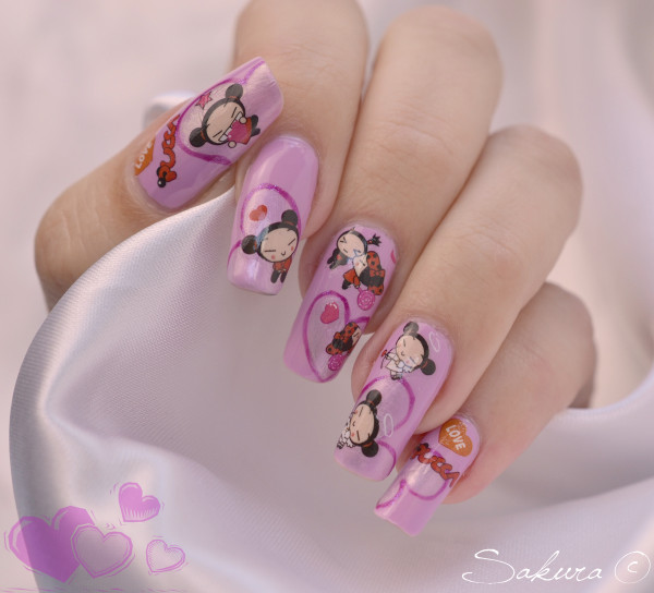 Nail Art Water decals Pucca 2