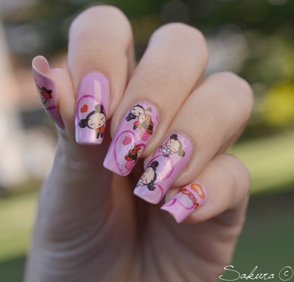 Nail Art Water decals Pucca 3