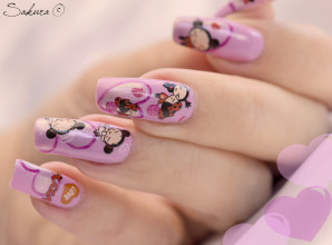 Nail Art Water decals Pucca 7