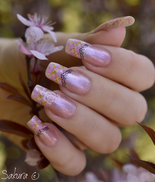 Nail Art Rose Water Decals 7
