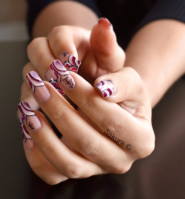 NAIL ART ONE STROKE ASIATIQUE 3