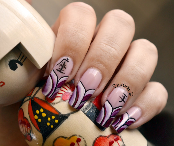 NAIL ART ONE STROKE ASIATIQUE 5